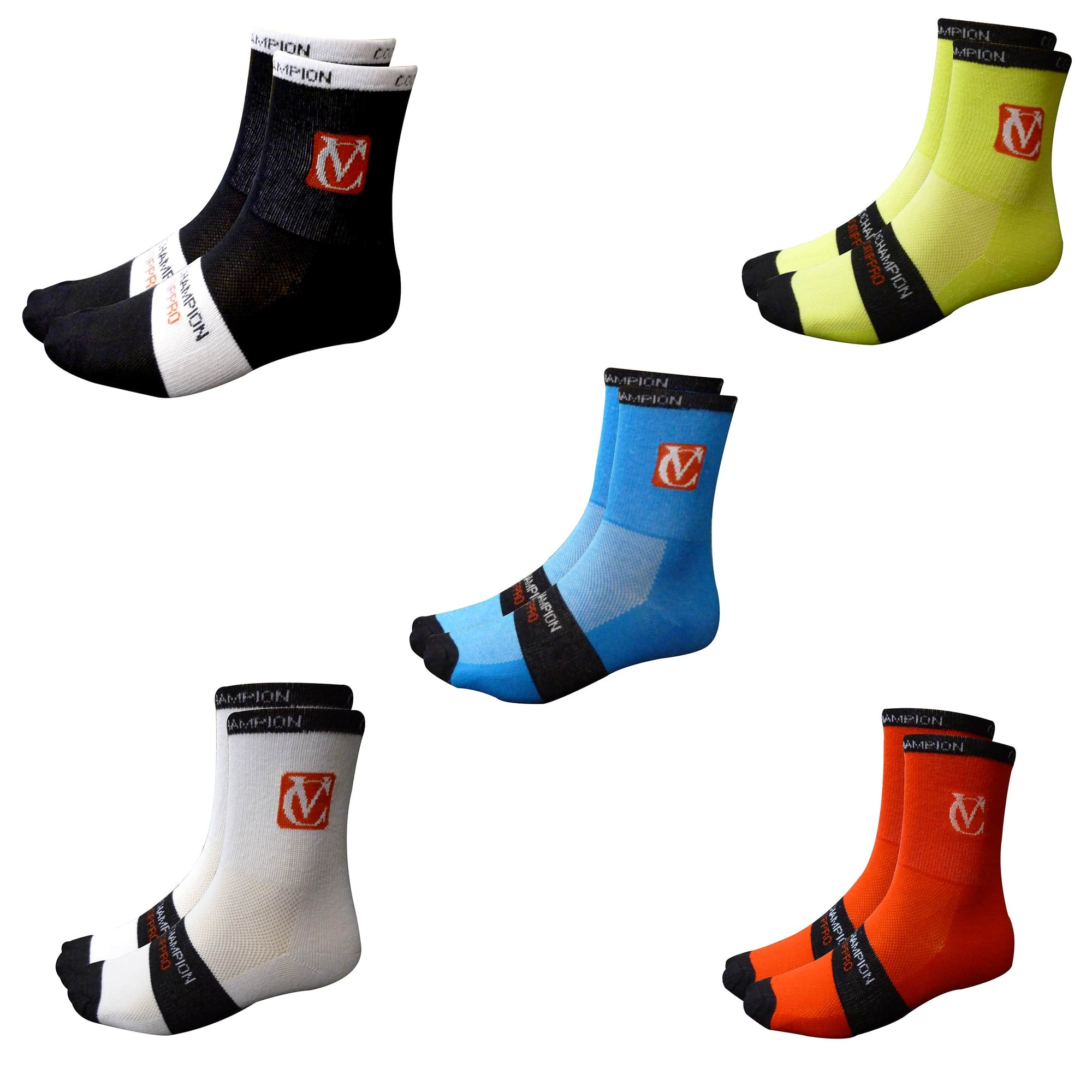 VC Comp Pro Socks - Pack of 3 Pairs - Available in 5 colour variations