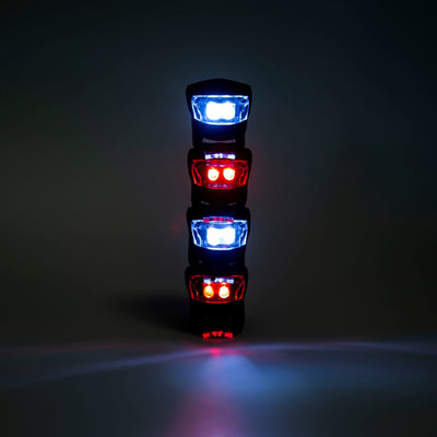4 Pack Quick Fit Front & Back LED Safety Lights