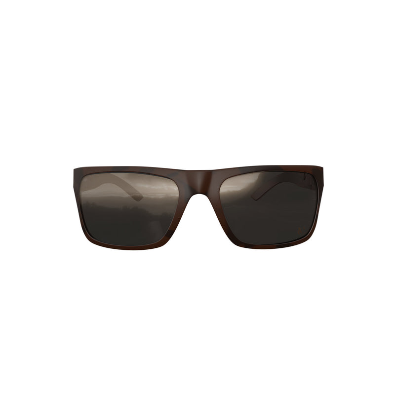 Velochampion Milan Casual Sunglasses Matt Black /Brown with Smoke Lens
