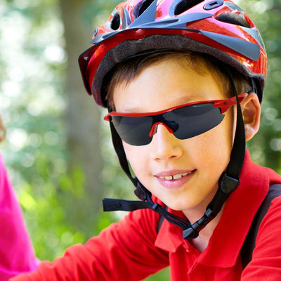 Childrens Warp fixed frame cycling sunglasses with 100% UV protection | VeloChampion