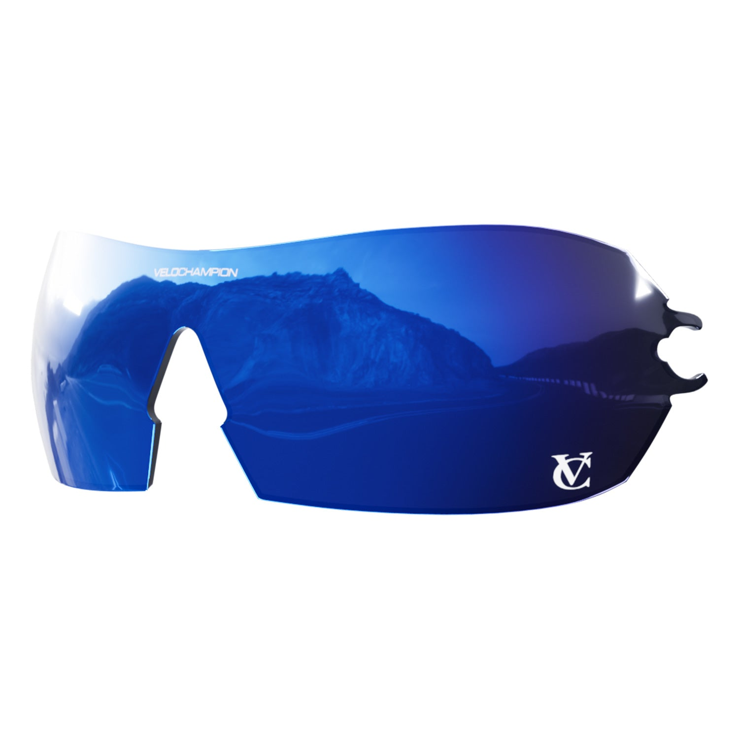 Customisable Hypersonic cycling sunglasses blue revo lens | VeloChampion