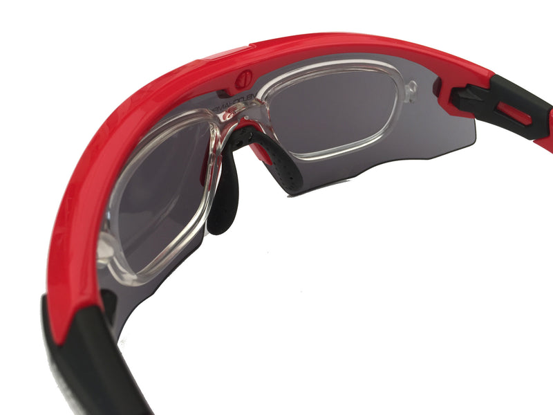 Optical lens adaptor for Hypersonic and Missile custom cycling sunglasses | VeloChampion