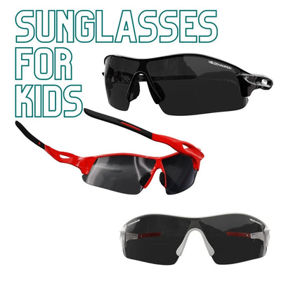 VeloChampion Kids Warp Cycling Sunglasses - Available in 3 colours - Suitable for Active Kids