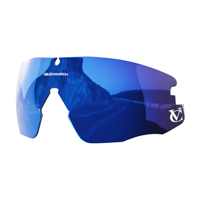 Customisable Missile cycling sunglasses blue revo lens | VeloChampion