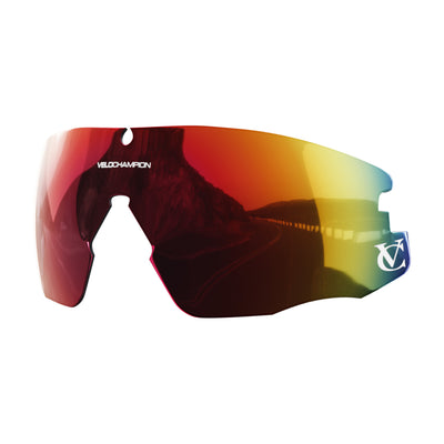 Customisable Missile cycling sunglasses red revo lens | VeloChampion