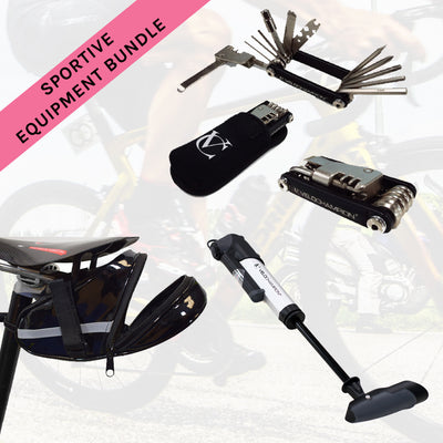 Velochampion Sportive Equipment Bundle - Pump, Seatpack and Multi-Tool - Velochampion