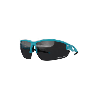 VeloChampion Tornado Cycling Sunglasses with 2 extra lenses & UV400 Protection -White/Blue/Black/Red