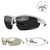 VeloChampion Tornado Cycling Sunglasses + 2 extra lenses & UV400 Protection -White/Blue/Black/Red