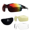 Vortex Cycling Sunglasses Bundle (Frame, 2 Lenses & Case) - Various Colour Options Available