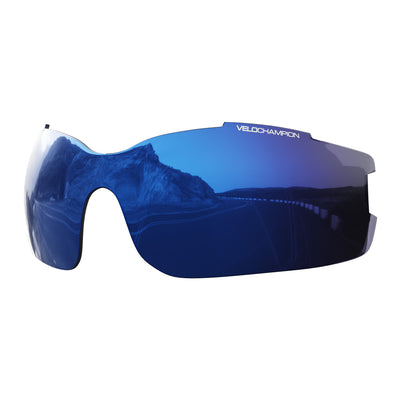 Vortex customisable cycling glasses blue revo lens | UV400 protection | VeloChampion