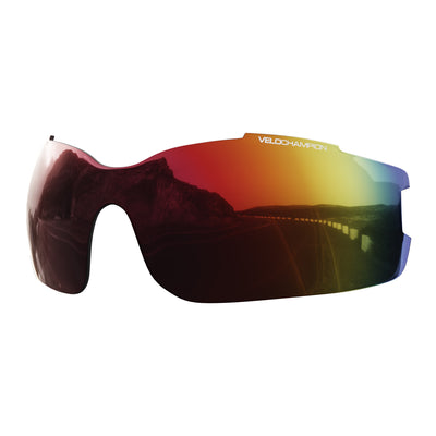 Vortex customisable cycling glasses red revo lens | UV400 protection | VeloChampion