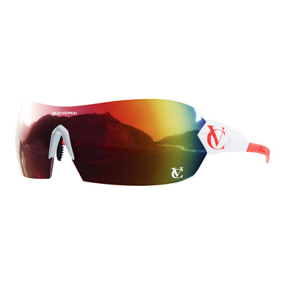 VeloChampion White & Red HYPERSONIC™ Custom Sunglasses