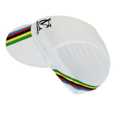 White World Champion Replica VeloChampion Cycling Cap