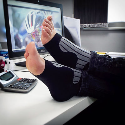 VeloChampion Compression Targeted Support of Ankle, Arch and Heel, Falling Arches, Heel Spurs