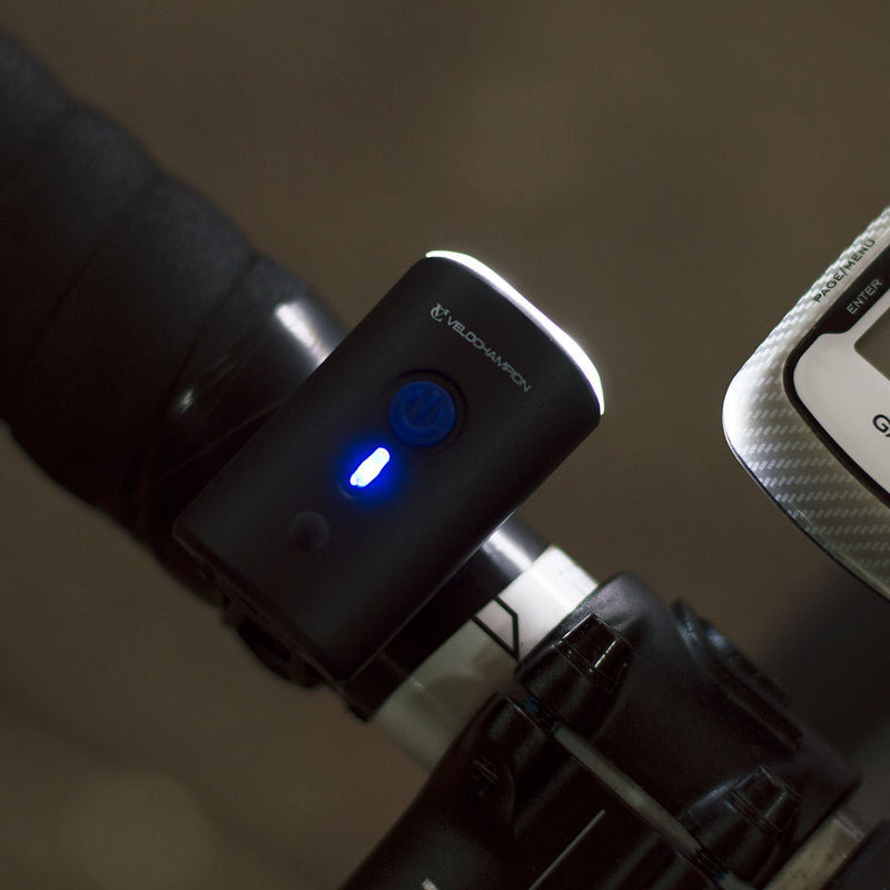 VeloChampion Front Bike Light USB with Rechargeable Battery - Velochampion