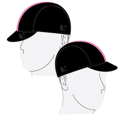 VELOCHAMPION Cycling Tech Cap - Black with Pink Band - Velochampion