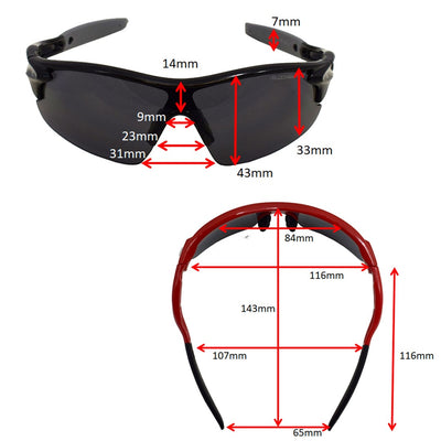 What size are the childrens Warp fixed frame cycling sunglasses | VeloChampion