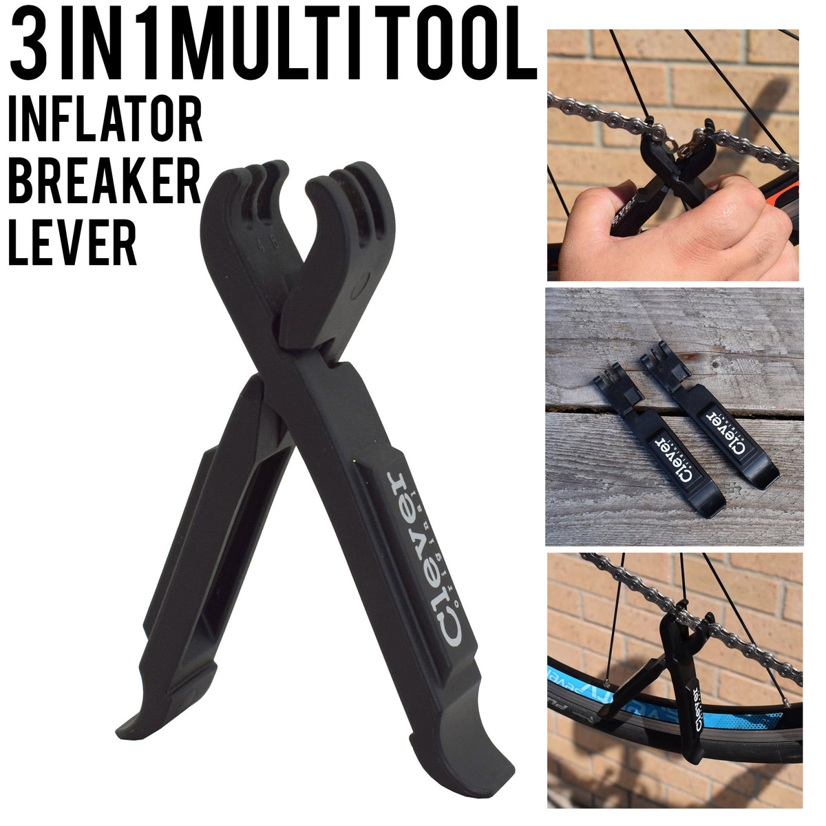 VELOCHAMPION 2 in 1 Heavy Duty Tyre Levers and Missing Link Chain Opener - Velochampion