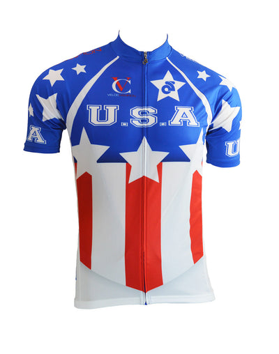 VeloChampion Short Sleeve USA Club Cut Jersey - Velochampion