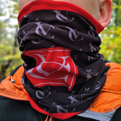 VC Cycling Neck Warmer Scarf Multi-functional Seamless Snood Scarf - 6 in 1 uses with UV protection