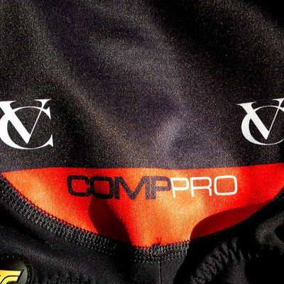 VC Comp Pro 'Girona' Bib Tights with Pro Pad - High Quality Fleece Lined Winter Cycling Bib Tights