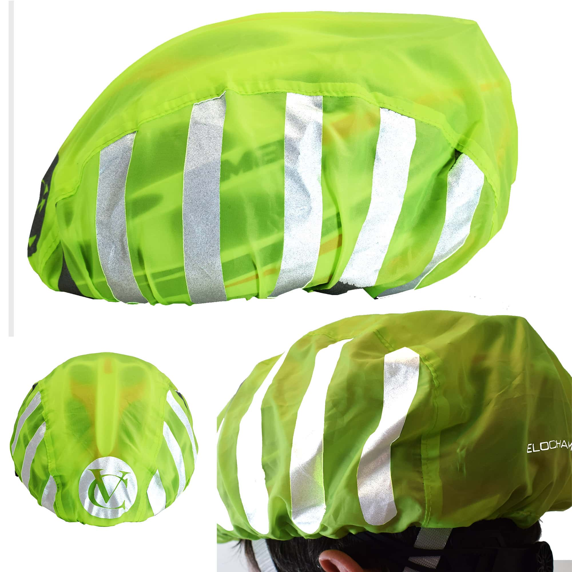 VELOCHAMPION Fluorescent Helmet Cover - Be Seen In Low Light Conditions