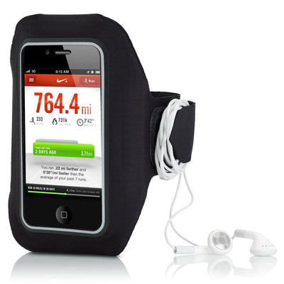 VeloChampion Black Sports Jogging Gym Armband for Apple Iphone - Velochampion