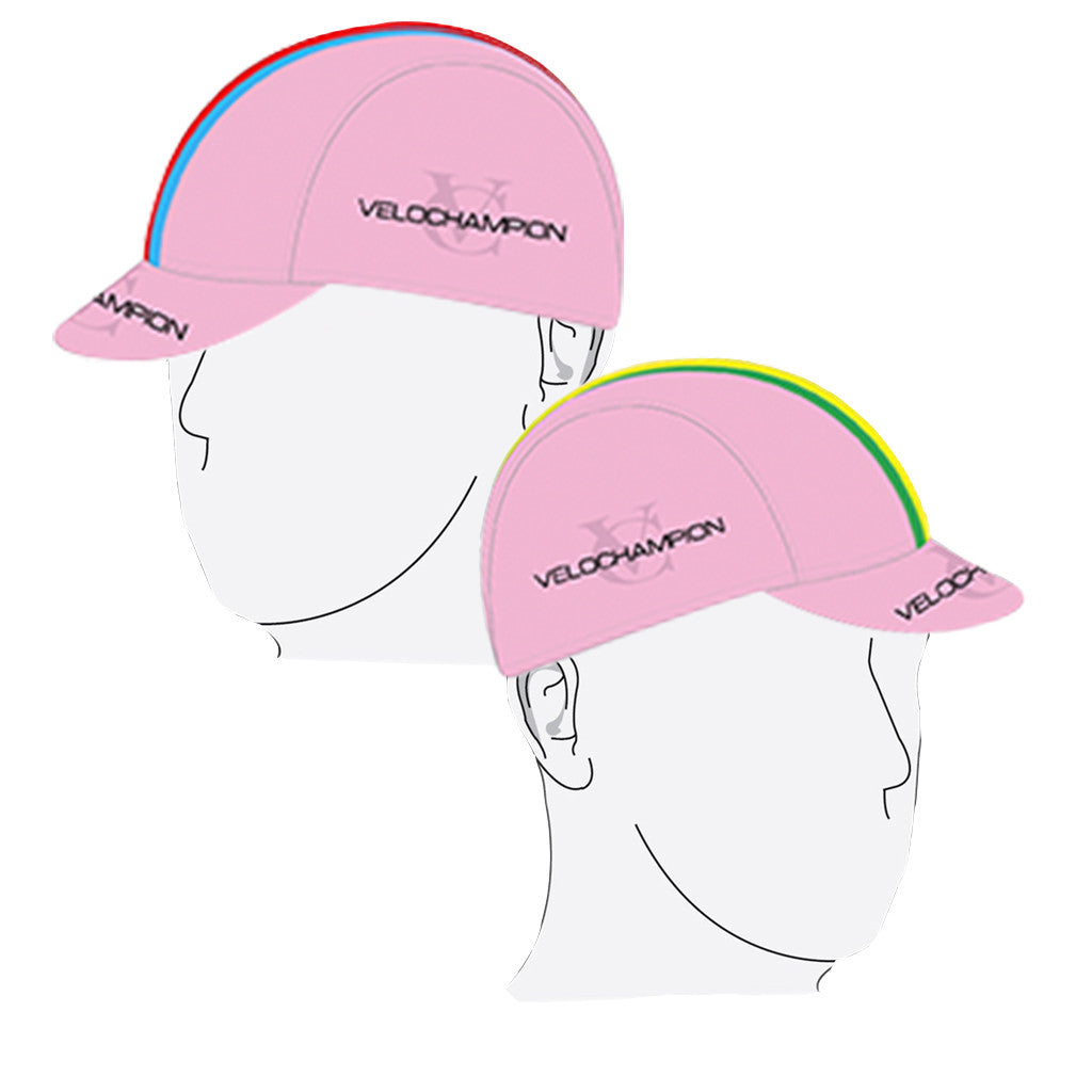 VELOCHAMPION Cycling Tech Cap - Pink with World Champs Band - Velochampion
