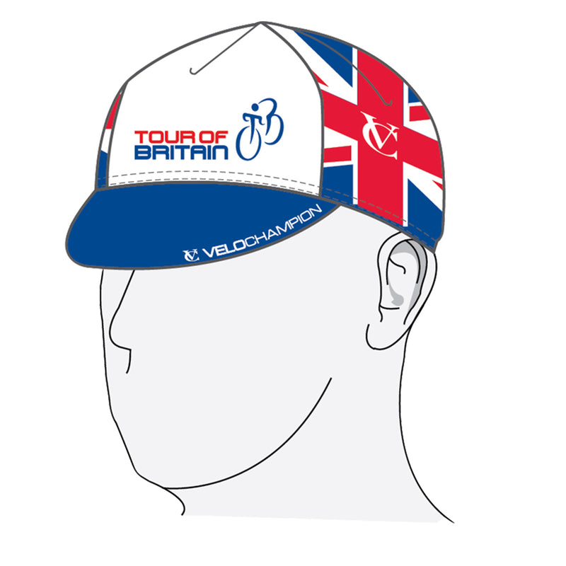 VELOCHAMPION Tour of Britain Cycling Euro Cap - Cotton Cycling Hat - Velochampion