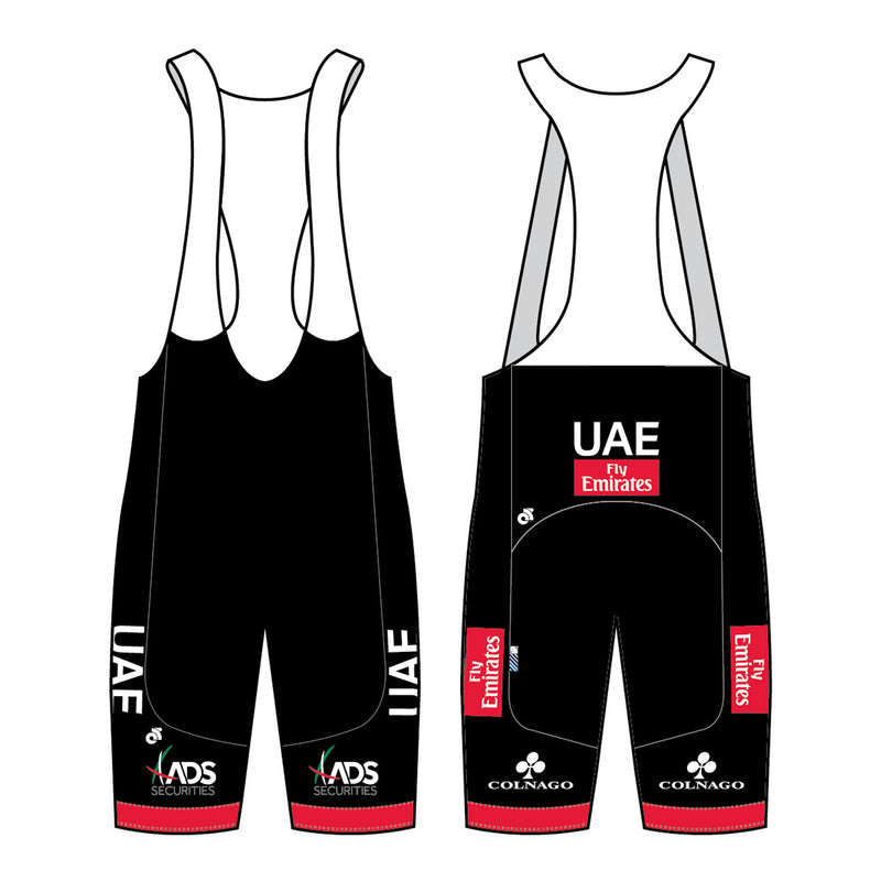 U.A.E. Team Emirates Mens Cycling Bib Shorts