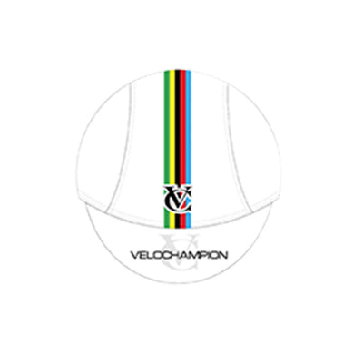 VELOCHAMPION Cycling Tech Cap - White with World Champs Band - Velochampion