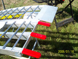 10 Foot Long, 12 Inch Wide, 3000 Pound FOLDING Ramps - Dambach Ramps - aluminum ramps for all equipment