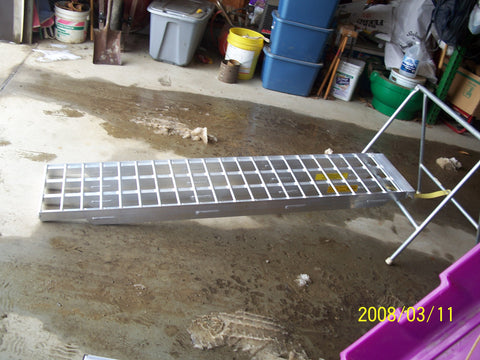 "5' Long, 16"" Wide, 10000 Pound Capacity Set of 3 Ramps - Dambach Ramps - aluminum ramps for all equipment"