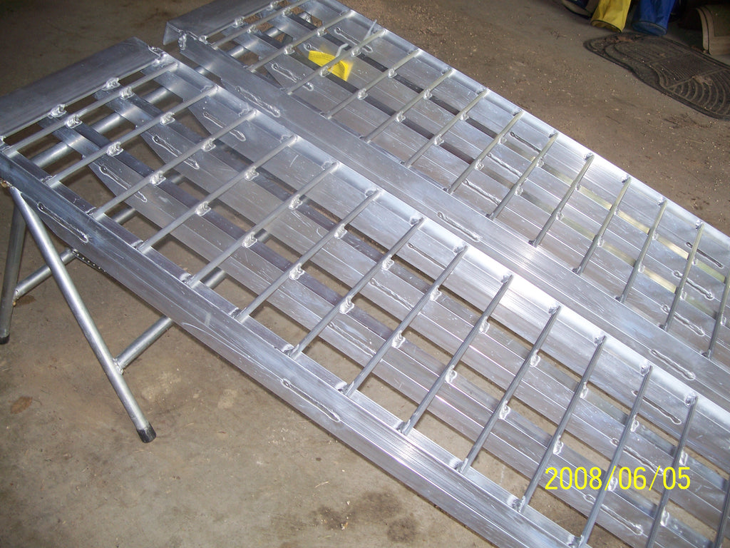 "7'  Long x 16"" Wide, 3000# Capacity Ramps - Dambach Ramps - aluminum ramps for all equipment"