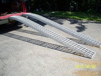 "12' long x 12"" wide, 1500# Arched set of 2 ramps - Dambach Ramps - aluminum ramps for all equipment"