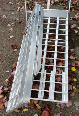 "4' Long, 16"" Wide, 20000 Pound Capacity Set of 2 Ramps - Dambach Ramps - aluminum ramps for all equipment"
