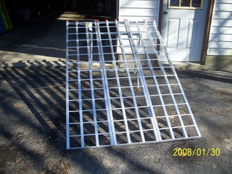 "Trifold ATV Ramp 6' 10"" long, 51"" wide, 1500# capacity - Dambach Ramps - aluminum ramps for all equipment"