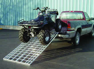 BIFOLD Motorcycle Ramp with 1500 pound weight capacity - Dambach Ramps - aluminum ramps for all equipment