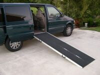 PVI 7 Foot Long, 30 Inch Wide, Multifold Ramp - Dambach Ramps - aluminum ramps for all equipment