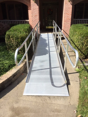 19 foot long Modular Handicap Ramp - Used - Dambach Ramps - aluminum ramps for all equipment