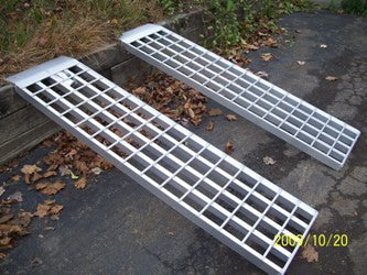 "5' Long, 16"" Wide, 5000 Pound Capacity Set of 2 Ramps - Dambach Ramps - aluminum ramps for all equipment"