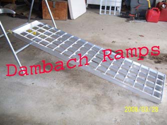 "6' 4"" Long, 12"" Wide, 3000 Pound Capacity Set of 2 Ramps - Dambach Ramps - aluminum ramps for all equipment"