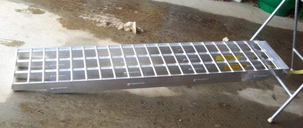 "6' 4"" Long, 16"" Wide, 12,000 Pound Capacity Set of 2 Ramps - Dambach Ramps - aluminum ramps for all equipment"