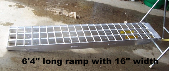 "6' 4"" Long, 12"" Wide, 10,000 Pound Capacity Set of 2 Ramps - Dambach Ramps - aluminum ramps for all equipment"