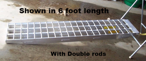 8 Foot Long, 16 Inch Wide, 6000 Pound Ramps - Dambach Ramps - aluminum ramps for all equipment