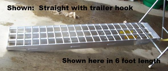 "8' L x 16"" W, 10000#  Set of 2 Ramps - 5 inches thick - Dambach Ramps - aluminum ramps for all equipment"