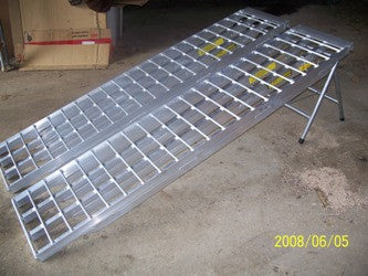 "6' 4"" Long, 12"" Wide, 5,000 Pound Capacity Set of 2 Ramps - Dambach Ramps - aluminum ramps for all equipment"