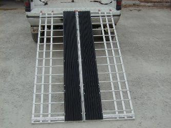 "Snowmobile/ATV ramp 8' long, 48"" wide, 1500 pound Capacity - Dambach Ramps - aluminum ramps for all equipment"