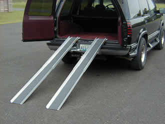 "Telescopic Wheelchair Tracks - 7' 9"" long - Dambach Ramps - aluminum ramps for all equipment"