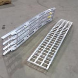 "7'  Long x 16"" Wide, 4000 Pound Capacity Folding Ramps - Dambach Ramps - aluminum ramps for all equipment"